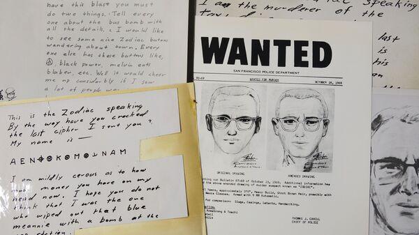 Kopie dopisů zaslaných do San Francisco Chronicle sériovým vrahem, který si říkal Zodiac - Sputnik Česká republika