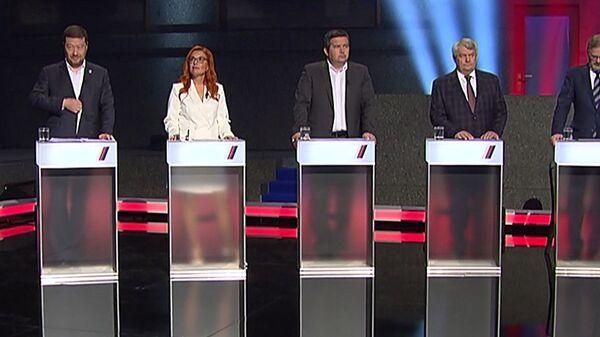 Дебаты кандидатов в премьер-министры Чехии - Sputnik Česká republika