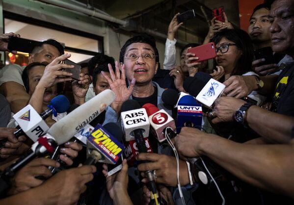 Filipínská aktivistka Maria Ressa, vítězka Nobelovy ceny za mír 2021 - Sputnik Česká republika