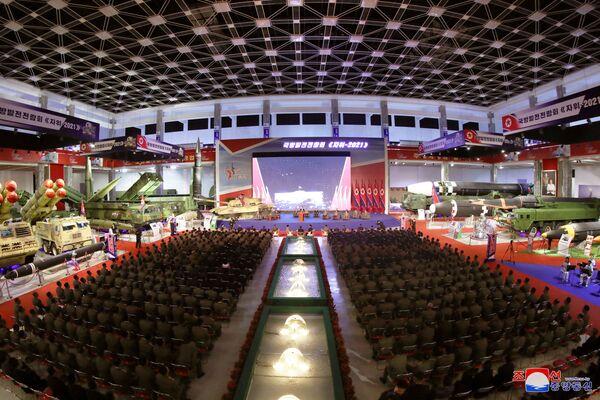 Vůdce Kim Čong-un během svého projevu na zahajovací ceremonii. - Sputnik Česká republika