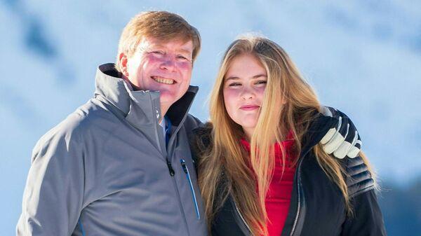 Nizozemská princezna Catharina-Amalia se svým otcem - Sputnik Česká republika