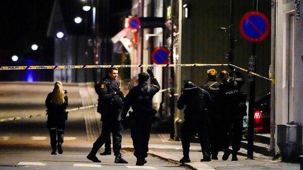 Полиция на месте нападения на людей с луком и стрелами в норвежском Конгсберге  - Sputnik Česká republika