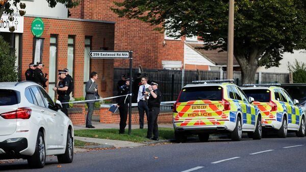 Policisté na místě vraždy britského poslance Davida Amesse - Sputnik Česká republika