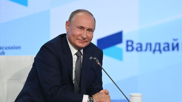 Ruský prezident Vladimír Putin na Valdajském fóru - Sputnik Česká republika
