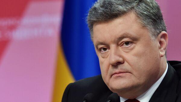 Ukrajinský prezident Petr Porošenko - Sputnik Česká republika