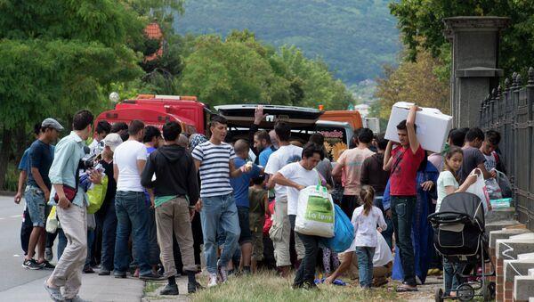 Rakouský tábor pro uprchlíky - Sputnik Česká republika