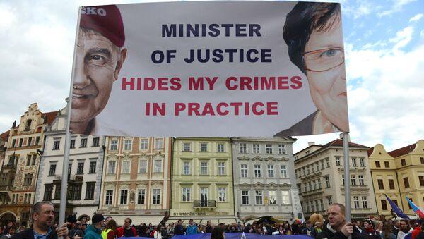 Protesty proti Benešové a Babišovi - Sputnik Česká republika