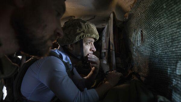 Ukrajinský prezident Volodymyr Zelenskyj navštívil Donbas 3 - Sputnik Česká republika