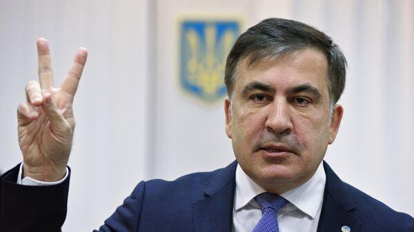 Bývalý gruzínský prezident a bývalý guvernér Oděské oblasti Michail Saakašvili  - Sputnik Česká republika