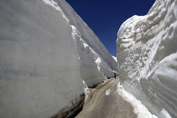 Sněhové stěny v Libanonu. - Sputnik Česká republika