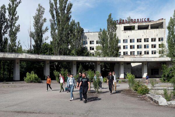 Opuštěná budova ve městě Pripjať. - Sputnik Česká republika