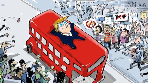Trump a protesty - Sputnik Česká republika