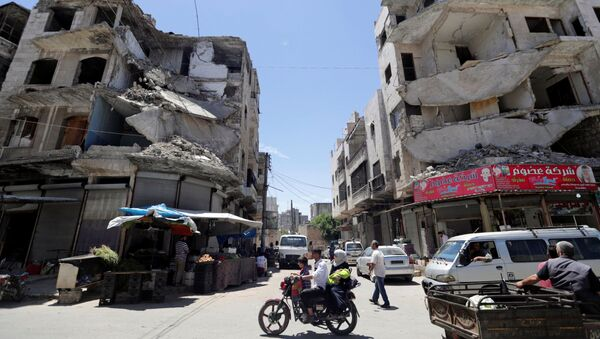Zničené domy v Idlibu, Sýrie - Sputnik Česká republika