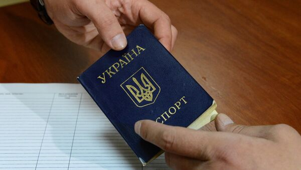 Ukrajinský průkaz totožnosti - Sputnik Česká republika