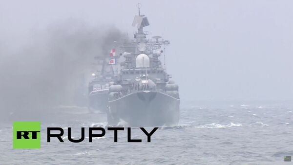 Unikátní přehlídka ruských a čínských lodí ve Vladivostoku - Sputnik Česká republika