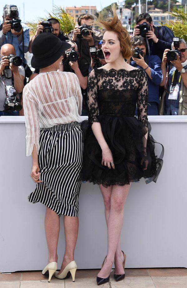 Herečka Emma Stonová na filmovém festivalu v Cannes, 2015. - Sputnik Česká republika