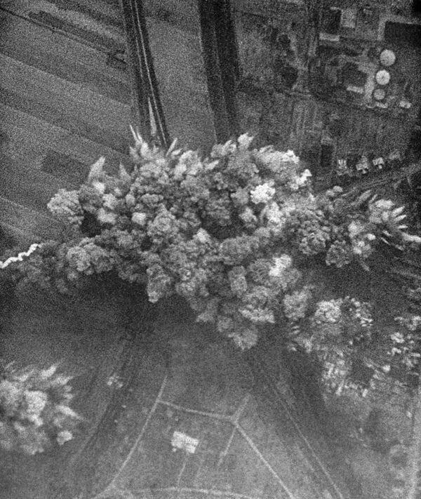 Záběr z dokumentárního filmu Velké Vítězství sovětského národa. 22. června 1941 německé letectvo bombarduje sovětská města. - Sputnik Česká republika