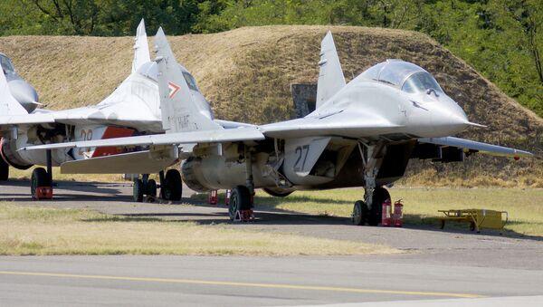 Stíhací letouny MiG-29 na maďarské základně Kecskemet. Ilustrační foto - Sputnik Česká republika