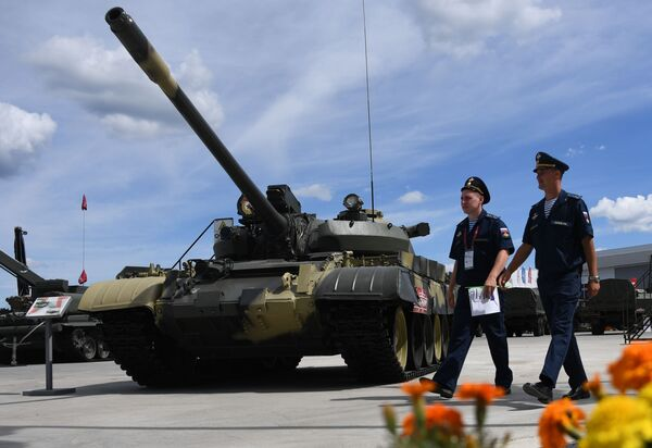Tank T-55A na Mezinárodním vojensko-technickém fóru Army 2019. - Sputnik Česká republika