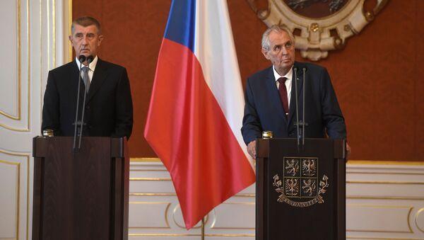 Premiér Andrej Babiš a prezident Miloš Zeman - Sputnik Česká republika