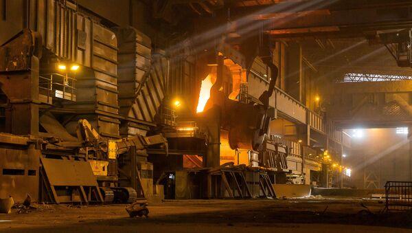 Cech hutního závodu ArcelorMittal. Ilustrační foto - Sputnik Česká republika