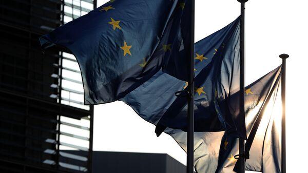 Vlajky EU v Bruselu - Sputnik Česká republika