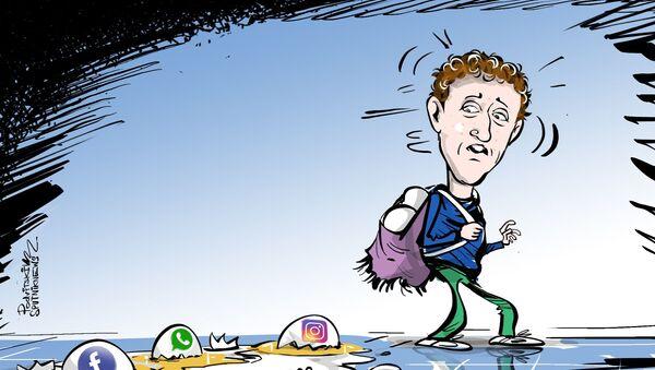 Zuckerberg má výpadek, všichni mají únik - Sputnik Česká republika