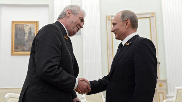 Miloš Zeman a Vladimir Putin - Sputnik Česká republika