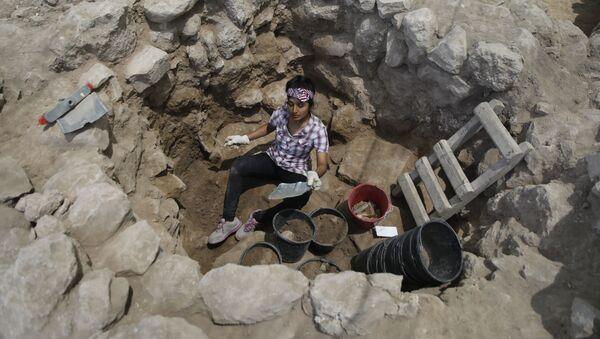 Vykopávky v okolí starobylého biblického města Sicelech v Izraeli - Sputnik Česká republika