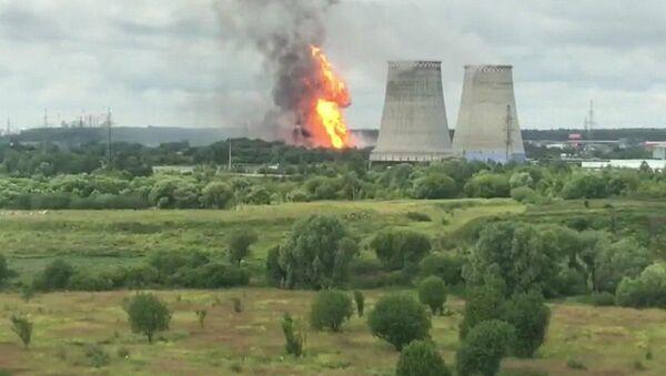 Požár na Severní tepelné elektrárně v Mytišči - Sputnik Česká republika