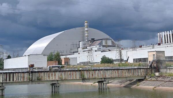 Výhled na nový sarkofág Černobylské jaderné elektrárny - Sputnik Česká republika