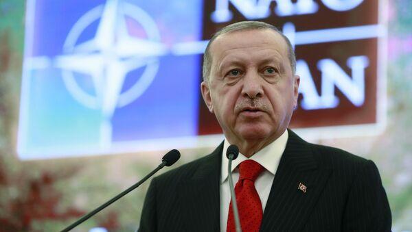 Turecký prezident Recep Tayyip Erdogan v Ankaře - Sputnik Česká republika