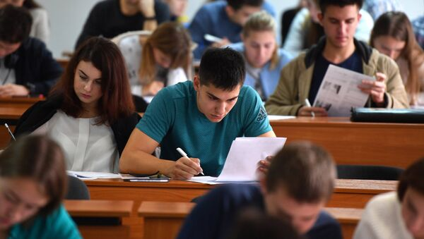 Studenti během přednášky - Sputnik Česká republika