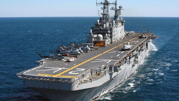Americká vojenská loď USS Saipan (LHA 2) - Sputnik Česká republika