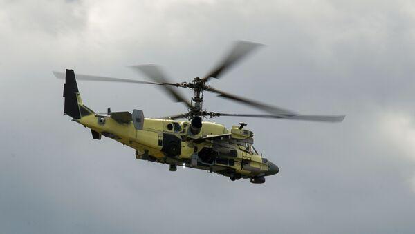 Vrtulník Ka-52 Aligátor během zkoušek - Sputnik Česká republika