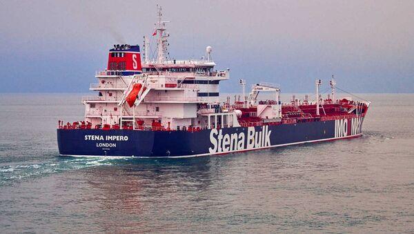 Tanker Stena Impero plující pod britskou vlajkou  - Sputnik Česká republika