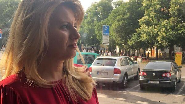 Prezidentka Slovenské republiky Zuzana Čaputová vyrazila tramvají na divadelní představení o homosexuálech - Sputnik Česká republika
