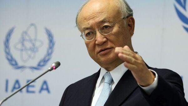 Generální ředitel Mezinárodní agentury pro atomovou energii (MAAE) Jukija Amano  - Sputnik Česká republika