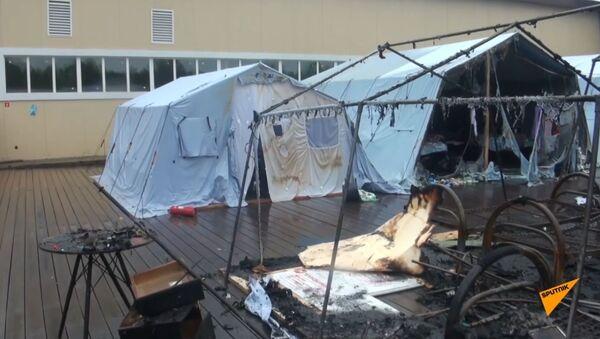 Hrozný požár v dětském stanovém táboře. 4 mrtvé děti - Sputnik Česká republika