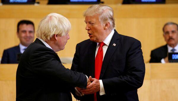 Boris Johnson a Donald Trump v OSN v New Yorku - Sputnik Česká republika