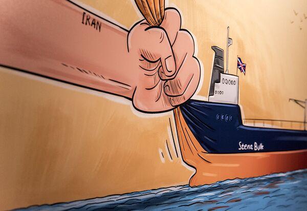 Výstava karikatur Královna pirátů v Teheránu. - Sputnik Česká republika