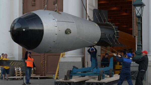 Maketa vodíkové Car-bomby v Moskvě - Sputnik Česká republika
