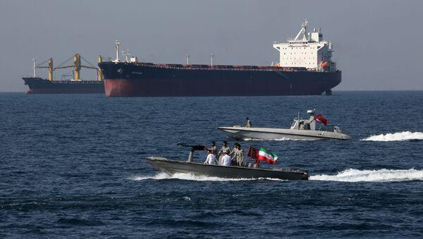 Íránští vojáci se účastní Národního dne Perského zálivu v Hormuzském průlivu - Sputnik Česká republika