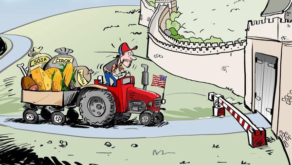 Čína ukončila nákup zemědělských produktů ze Spojených států - Sputnik Česká republika