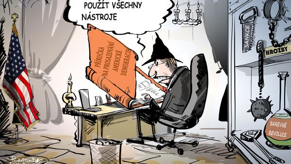 Pro demokracii jsou všechny prostředky dobré - Sputnik Česká republika
