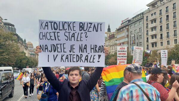 """Reakce na Prague Pride 019: """"Katolické buzny chcete stále? Jsou na Hradě i v katedrále"""" - Sputnik Česká republika"""