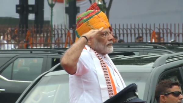 Video: Premiér Indie Módí během oslav 72. výročí nezávislosti země  promluvil o současné situaci ohledně Kašmíru   - Sputnik Česká republika