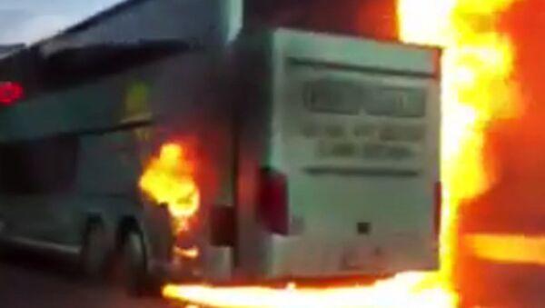 Požár českého autobusu v Chorvatsku - Sputnik Česká republika