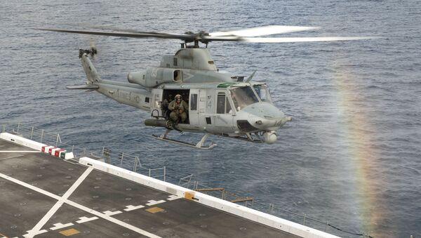 Americký víceúčelový vrtulník UH-1Y Venom - Sputnik Česká republika