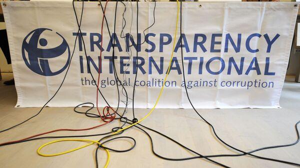 Logo organizace Transparency International - Sputnik Česká republika